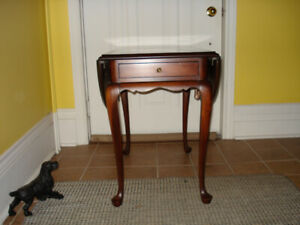 Gibbard,  Solid Mahogany, Drop Leaf Lamp/End Tables