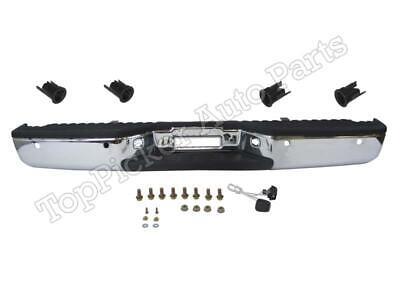 Rear Bumper Chrome Assy Reverse Sensor Bracket For Nissan Titan 2004-2015