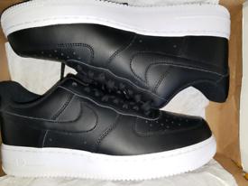 Size 12 Mens. Nike Air Force 1. Brand New. Black White.