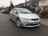 2009 HONDA CIVIC TYPE-S GT I-VTEC AUTO 52K LOW MILEAGE BARGAIN L@@K! Not Ibiza Polo Golf Yaris Corsa