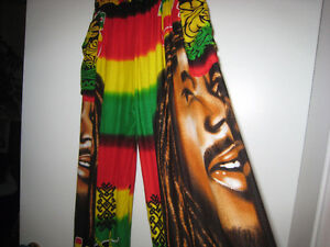 Bob Marley Reggae 5 pieces Theme Clothes in new condition