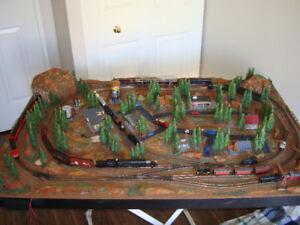 Model Train N scale Layout