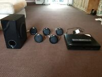 Home surround DVD player and speakers