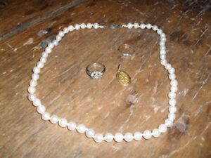 Diamond ring & Pearl Necklace