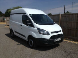 2014 64 FORD TRANSIT CUSTOM 2.2TDCI 98BHP SWB MID ROOF (VERY CLEAN +VAT)