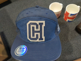 Blue Crosshatch snapback hat