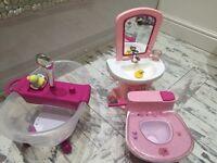 Baby Born Interactive Bath, Toilet & Sink Set