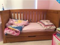 Solid Oak Mamas & Papas Cotbed Set