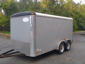 United 7' x 14' Enclosed Trailer with Barn Doors