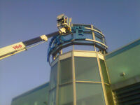 sign cleaning, removal, installation and concrete bases