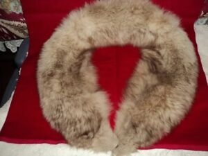 White fur fox collar with brown shading   Sussex