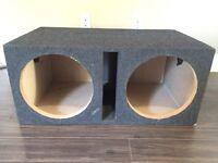 "Dual 12"" Sealed Subwoofer Ported Box NEW"