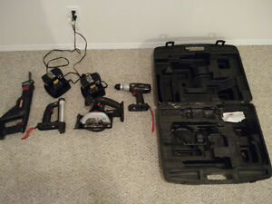Drill circural&reciprocating saws, light, 3xbatteries 2xchargers