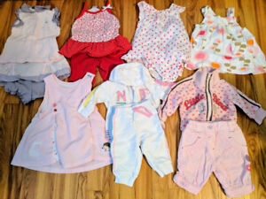 Girl's clothing 0-3 months