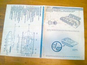 G.I.Joe Instructions and Blueprints - Mauler M.B.T. Tank