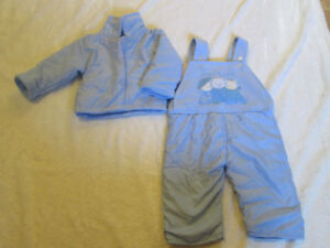 Periwrinkle Blue 2pc Warm Suit Jacket + Coveralls