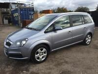 VAUXHALL ZAFIRA 2008/57 1.6 BREEZE PETROL - MANUAL - 7 SEATER **FAMILY CAR**