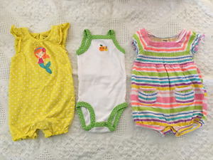 Girls 3-6 month rompers
