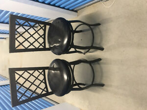 Metal frame. Counter height chairs