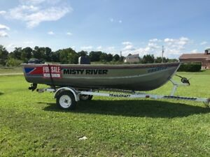 1988 14ft WD Misty River Boat Motor and Trailer