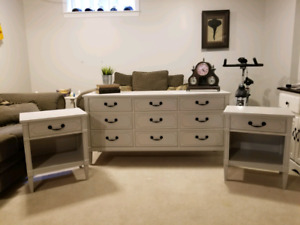 Dresser and end tables