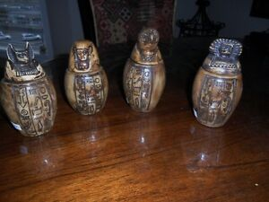 4 Egyptian Replica Canopic Jars