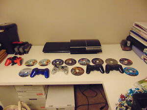 2 ps3's, 11 games,5 controllers
