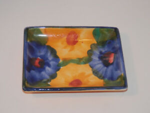 Handpainted Floral Ashtray