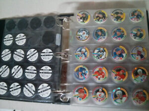 NHL hockey pogs with slammers 350+ and sheets with binder $40