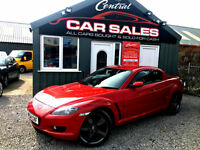 MAZDA RX-8 1.3 (190) RWD MANUAL COUPE FMSH FINANCE & PARTX ARRANGED VGC