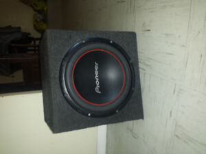"""1X 12"""" PIONEER SUBWOOFER WITH ENCLOSURE FOR SALE.NEED GONE ASAP"""