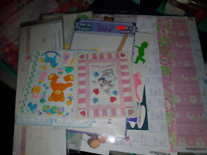 Baby and Child Themed Scrapbooking Paper and Embellishments