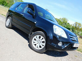2006 56 HONDA CR-V 2.0 i-VTEC Executive 4X4 SUV ESTATE BLACK