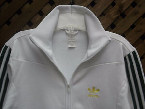 Authentic ADIDAS white track jacket mens Small