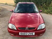 cheap Citroen Saxo 1.1i 2003,13 service stamps to 37k miles - genuine low mileag