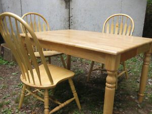 Solid Ash Dining Table and 8 Chairs (All chairs not shown)
