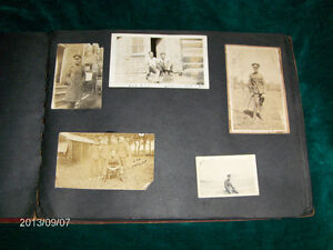 H.P. CHARLTON-LOT OF 5 MILITARY WORLD WAR 1 PHOTOS-B/W-VINTAGE!