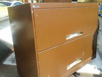 """Lateral filing cabinets. 25.5""""wide x 28"""" high x 18"""" deep."""