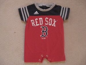 Boston Red Sox Adidas Baby Summer Rompers
