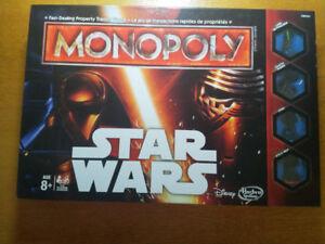 MONOPOLY STAR WARS VERSION BILINGUE COMME NEUF