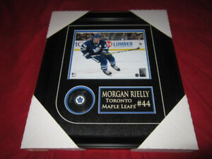 MORGAN RIELLY SIGNED PUCK /  PICTURE FRAMED TORONTO MAPLE LEAFS