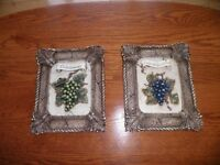 2 wine picture frames