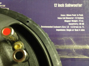 Four NEW 800 Watt  Exile Dual Voice Coil 12in Matched Subwoofers Cambridge Kitchener Area image 10