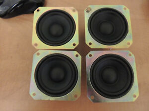 "(Qty of 4) 3"" Woofers -4 Ohm model 8P328A6"
