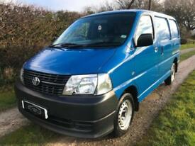 2006 56 TOYOTA HIACE VAN D-4D 280 120 BHP NEW SHAPE 1 OWNER LOW MILES NO VAT