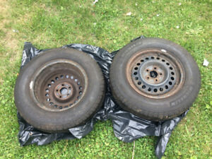 Two Michelin Defender All Season 195/70/14 Tires for Sale