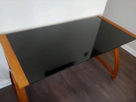 Glasss top desk