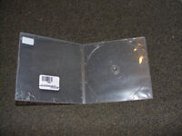200 CD DVD DISCS slim poly cases boitiers square carre w/sleeves