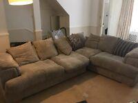 Large dfs fabric corner sofa