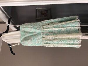 Turquoise and white lace covering | SIZE SMALL |